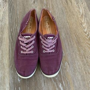 Purple Keds sneakers